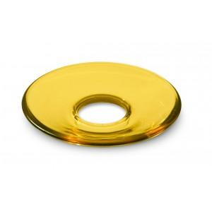 Holmegaard LUMI Glasmanschetten flach gelb 8er Set