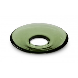 Holmegaard LUMI Glasmanschetten flach grün 8er Set