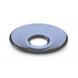 Holmegaard LUMI Glasmanschetten flach indigo blau 8er Set