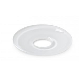 Holmegaard LUMI Glasmanschetten flach weiß 8er Set