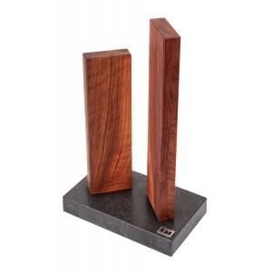 KAI Messerblock Walnuss/Granit klein