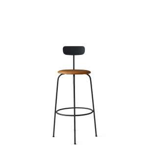 Menu Afteroom Bar Chair Black Cognac Barstuhl