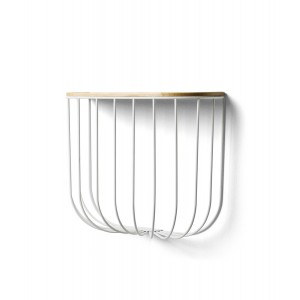 Menu Cage Shelf White Light Ash Wandregal