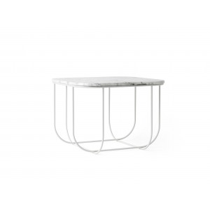 Menu Cage Table White White Marble Beistelltisch