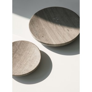 Menu Hover Bowl L Honed Brown Marble Schale