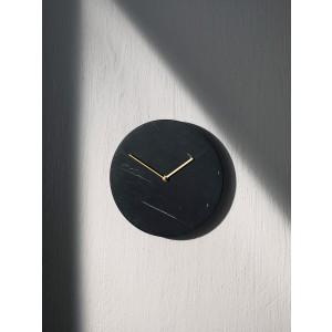 Menu Marble Wall Clock Black Wanduhr