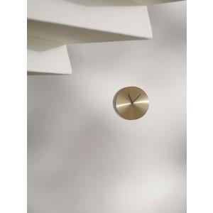 Menu NORM Wall Clock Brushed Brass Steel Wanduhr