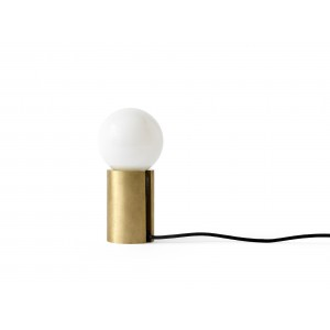Menu Socket Occasional Lamp Brushed Brass Tischleuchte