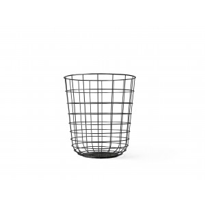 Menu Wire Bin Black Papierkorb