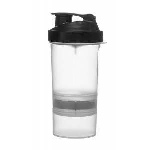 Sagaform SmartShake Flasche transparent