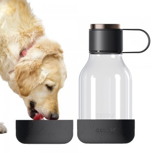 ASOBU DOG BOWL BOTTLE Trinkflasche mit Napf TWB20 BLACK