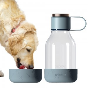 ASOBU DOG BOWL BOTTLE Trinkflasche mit Napf TWB20 BLUE