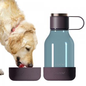 ASOBU DOG BOWL BOTTLE Trinkflasche mit Napf TWB20 BURGUNDY