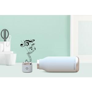 ASOBU WIRELESS Isoliertrinkflasche mit integriertem Lautsprecher BT60 WHITE