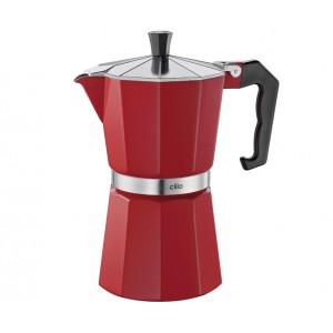 Cilio Espressokocher CLASSICO 6 Tassen rot