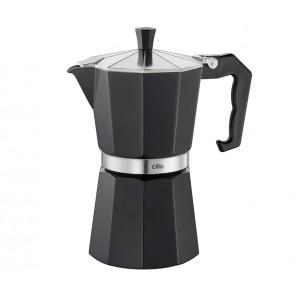 Cilio Espressokocher CLASSICO 6 Tassen schwarz