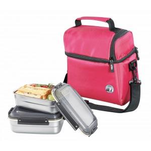 Cilio Isoliertasche ROCCA mit Lunchboxen rot