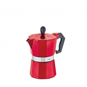 Cilio Espressokocher CLASSICO, 3 Tassen, candy red