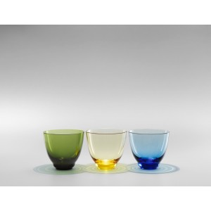 Holmegaard Flow Wasserglas amber 35 cl
