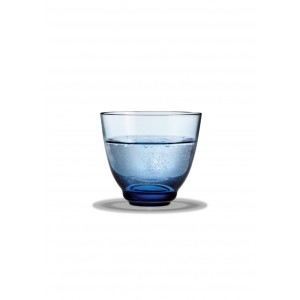 Holmegaard Flow Wasserglas blau 35 cl