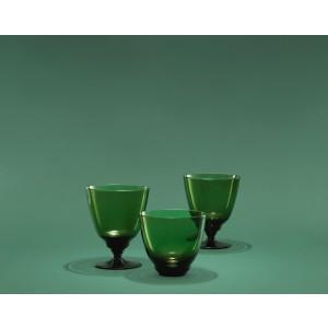 Holmegaard Flow Wasserglas olivgrün 35 cl
