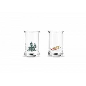 Holmegaard Weihnachtsschnapsglass 2019 multi 3cl 2er Set