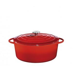 Küchenprofi Bratentopf oval 33cm rot