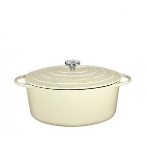 Küchenprofi Bratentopf oval 35cm creme