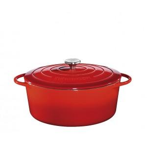 Küchenprofi Bratentopf oval 35cm rot