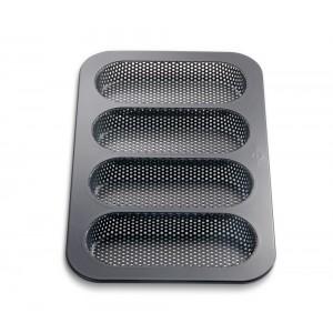Küchenprofi Mini-Baguette-Form 4er