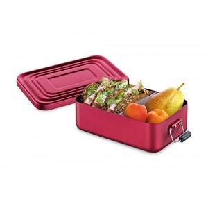 Küchenprofi Lunchbox klein Aluminium rot matt