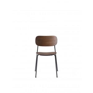 Menu Co Chair Dining Chair Dark Stained Oak Black Steel Base Esszimmerstuhl