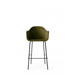 Menu Harbour Chair BC Black Steel Base City Velvet Barstuhl