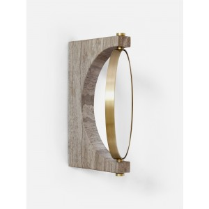 Menu Pepe Marble Wall Mirror Brass Brass/Honed Brown Wandspiegel