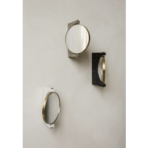 Menu Pepe Marble Wall Mirror Brass/White Wandspiegel