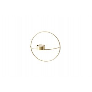 Menu POV Circle Tealight Candle Holder Teelichthalter S Brass