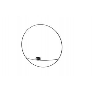 Menu POV Circle Tealight Candle holder Teelichthalter L Black