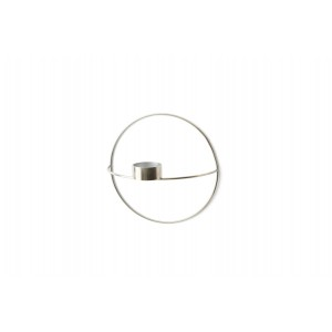 Menu POV Circle Tealight Candle Holder Teelichtkalter S Silver