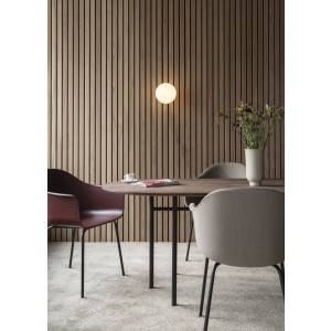 Menu Snaregarde Table Tisch Oval Black/Oak