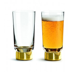 Sagaform Club Bierglas gold 2er Set