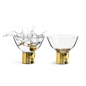Sagaform Club Cocktailglas gold 2er Set