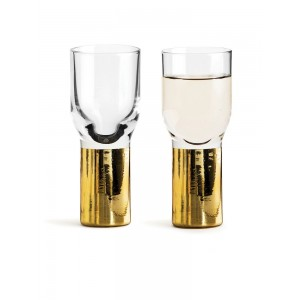 Sagaform Club Schnapsglas gold 2er Set
