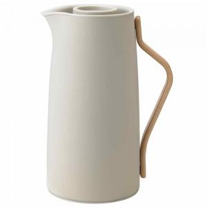 Stelton Emma Isolierkanne Kaffee 1200ml soft sand