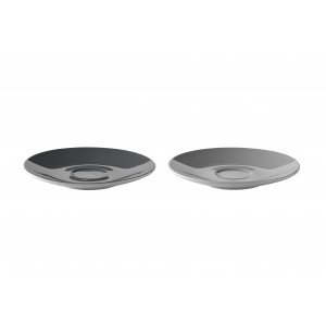 Stelton Emma Untertasse 2er Set grey