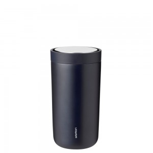 Stelton Isolierbecher To Go Click 0,2L midnight blue metallic