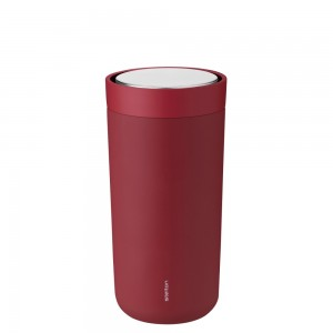 Stelton Isolierbecher To Go Click 0,4L soft warm maroon