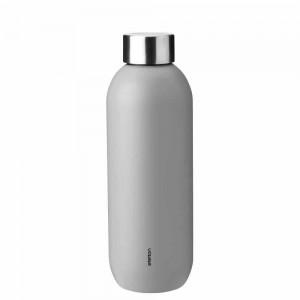 Stelton Keep Cool Trinkflasche 600ml light grey
