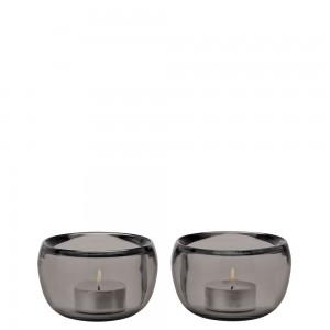 Stelton Ora Teelichthalter, 2 Stck. - smoke