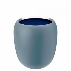 Stelton Ora Vase 17cm klein dusty blue/midnight blue